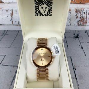 Anne Klein Diamond Accented Bracelet Watch